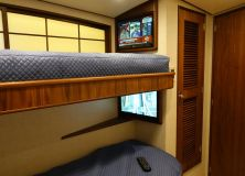 Dual televisions in guest