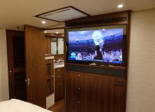 Master Stateroom and Master Head Seura Mirror TV and James Loudspeaker